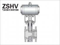 气动活塞V型调节球阀